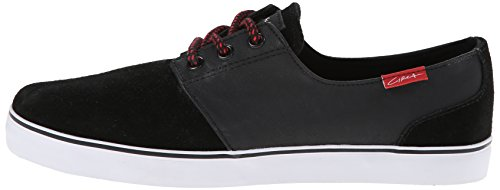 C1RCA Men's Crip Synthetic Fashion Sneaker,Black/White/Pompeian Red,9 M US