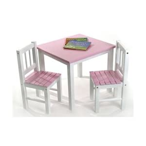 Lipper Kids Small Pink and Table and Chair Set  sc 1 st  FurnitureNDecor.com & Lipper Kids Small Pink and Table and Chair Set - FurnitureNdecor.com