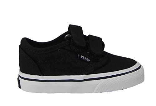 Vans Atwood Low Toddler Boys Skate Shoes Black/White 7 M front-836559