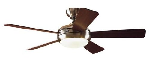 Hunter 21627 Palermo 52-Inch 5-Blade Ceiling Fan, Brushed Nickel with Maple and Cherry Blades