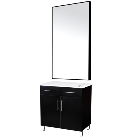 Alton Salon Styling Station with Mirror WS-40BLK
