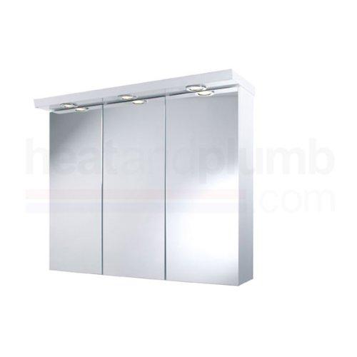 croydex alaska 3 door illuminated bathroom cabinet bathroom