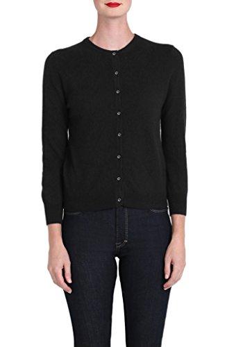 Cashmere Bracelet Sleeve Cardigan in Black