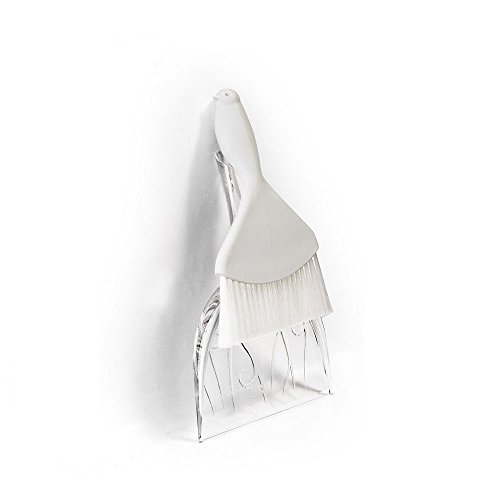 Crumbs Sweeper Sweepie Sparrow by Qualy Design Studio. Clear Dustpan and White Brush. Designer and Practical Kitchen Accessory. Unusual Housewarming Gift. Creative Present for New Home Owner. (Valentine Cookie Dough compare prices)