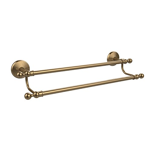 Allied Brass 24 Double Towel Bar Brushed Bronze flg free shipping dou towel bar towel holder solid brass made oil rubbed bronze bath products wall bathroom accessories 81308