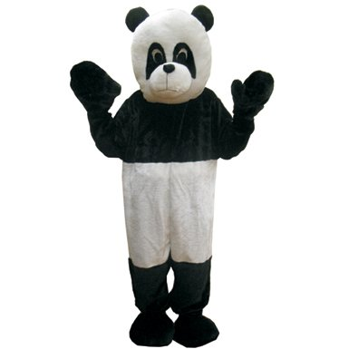 Deluxe Plush Panda Bear Mascot Adult Halloween Costume
