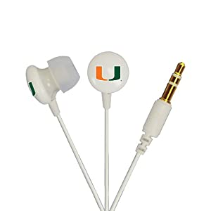 Miami Hurricanes Ignition Earbuds by AudioSpice by AudioSpice