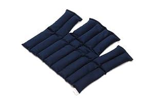 Sissel Compresse Chaude ou Froide au Graines de Lin mixte adulte Bleu Taille Unique (35x18x5.5cm)