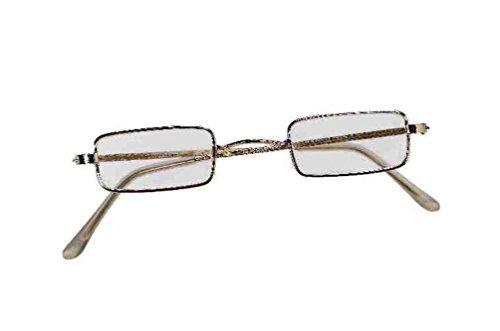 [Mememall Men Golden Rectangular Ben Franklin Glasses Adult Santa Claus Costume] (Ben Franklin Adult Mens Costumes)