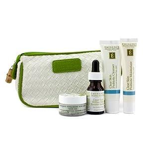Eminence Clear Skin Starter Set (For Acne Prone Skin) 4pcs+1bag by Eminence