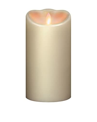Mirage 3.75 x 7.5 Unscented Programmable Flameless Candle, Cream