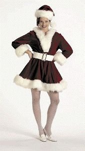 Halco 7054-8 Velvet Perky Pixie Christmas Costume - Medium