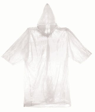 SE EP11A-CL Emergency Poncho, Clear