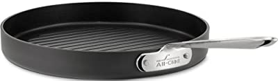 All-Clad 3012 Hard Anodized Aluminum Nonstick 12-Inch Round Grille Pan Specialty Cookware, Black