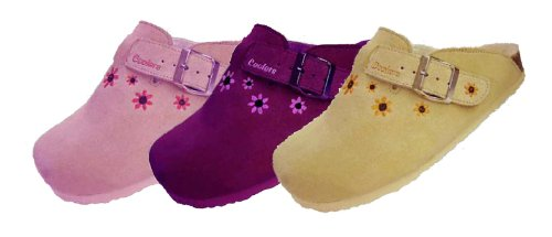 Ladies Cooler Slippers In Real Suede Clog Style