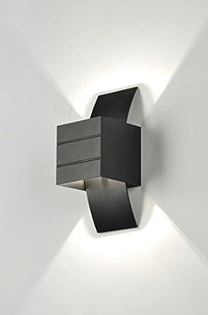 zoxx wandleuchte modern design aluminium schwarz matt viereckig l nglich us185. Black Bedroom Furniture Sets. Home Design Ideas