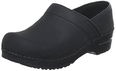 Sanita Women's Professional Lisbeth Closed Oil Leather Clog,Black,35 EU/4.5-5 M US
