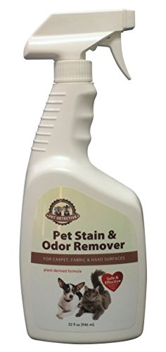 Carpet Stain Remover and Pet Odor Removal 32oz Spray - Removes Smells - Natural Bio Enzyme Cleaner - Dog and Cat Urine Neutralizer - Fresh Deodorizer
