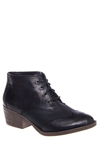 Polite Low Heel Oxford Bootie