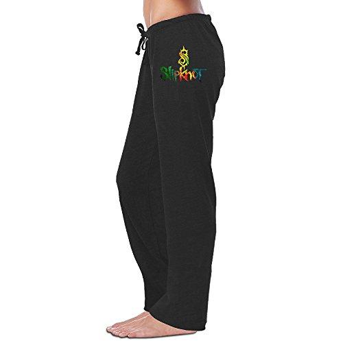 Yesher Women's Slipknot Logo Long Sports Pants - Black L (New Slipknot Masks For Sale)