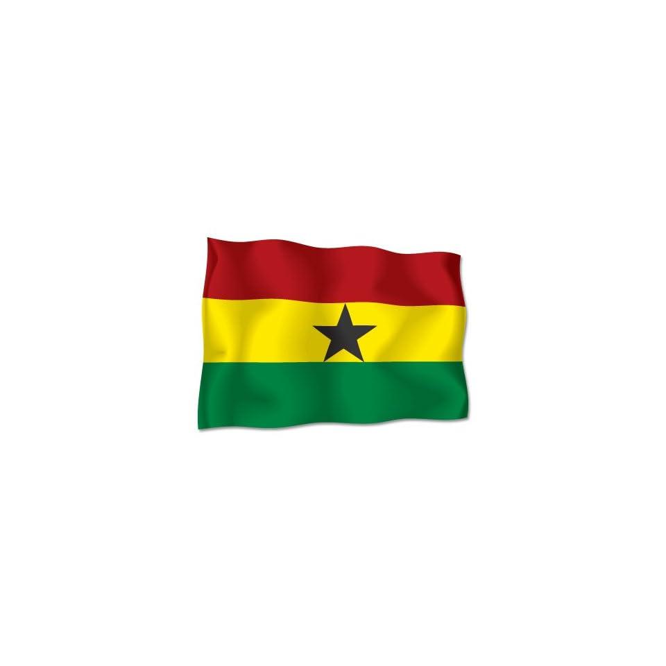 GHANA Flag car bumper sticker decal 6 wide x 4 high