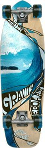 "Gravity 27"" MINI CLASSIC 1 DRAWING LINES MODEL Complete Longboard Skateboard"