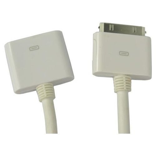 17-Core-Wei-Dock-Extender-Verlngerungskabel-fr-Apple-iPhone-4S-4-3GS-iPad-iPod-Touch-Untersttzt-Audio-Video