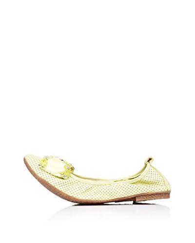 Bueno Shoes Bailarinas Calado Lazo Verde Lima