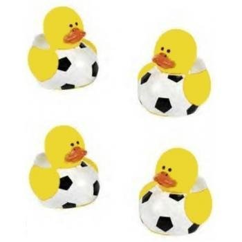 Lot Of 24 Mini Soccer Ball Rubber Ducks - Party Favors front-818021