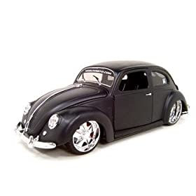 diecast car: 1951 Vw Volkswagen Bug Black Primered 1:18 Diecast Model