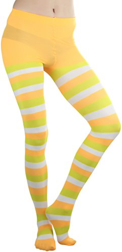 ToBeInStyle Women's Candy Corn Pattern Spandex Pantyhose OS MULTICOLOURED (Candy Corn Leggings compare prices)