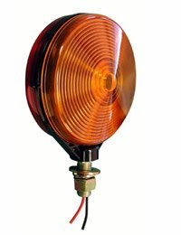 Peterson Manufacturing Pedestal Turn Signal - 4 1/8in. Double-Face (Red/Amber) Round, Model# V313-2RA