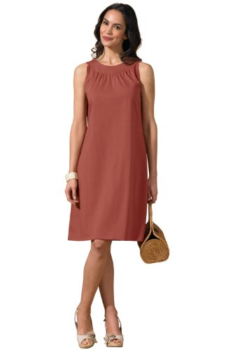 Fair Indigo Organic Pima Cotton Circle Neck Dress