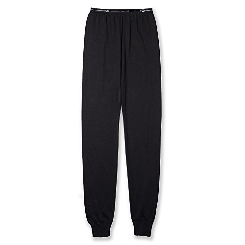 Duofold by Champion Youth Ankle Length Thermal Wicking Elastic Pant, Black, S