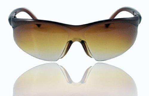 "ALPHA MAN ""Adventure Seeking, Class Achievement"" Gentleman Half-Rim Shield Sunglasses"