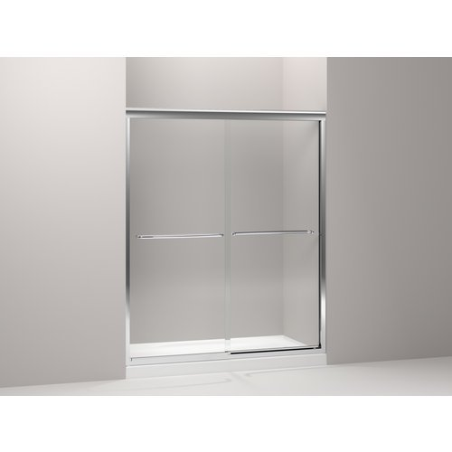 Kohler K-702217-L-NX Fluence 3/8-Inch Thick Glass Bypass Shower Door, Brushed Nickel (Kohler Tub Shower Doors compare prices)