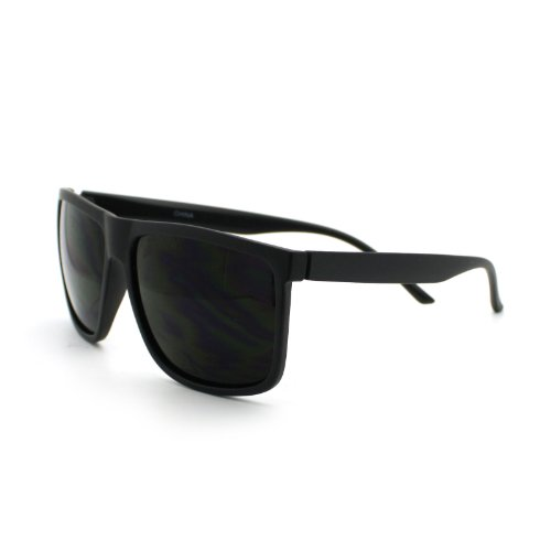Super Dark Black Lens Men's Sunglasses Classic Square ...