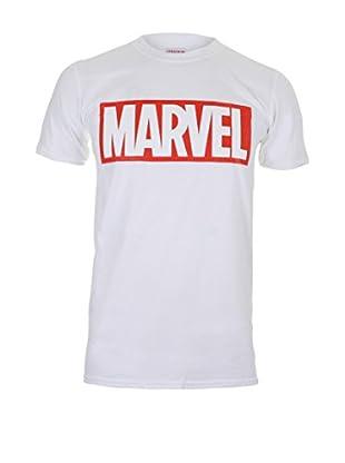 MARVEL Camiseta Manga Corta Core Logo (Blanco)