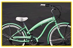 Anti-Rust Aluminum Frame! Fito Modena EX Alloy 7-speed Women - Mint Green, 26