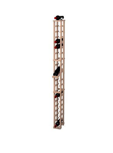 Wine Cellar Innovations Traditional Premium Redwood 1 Column Wine Rack With Display Row, Unstained front-614967
