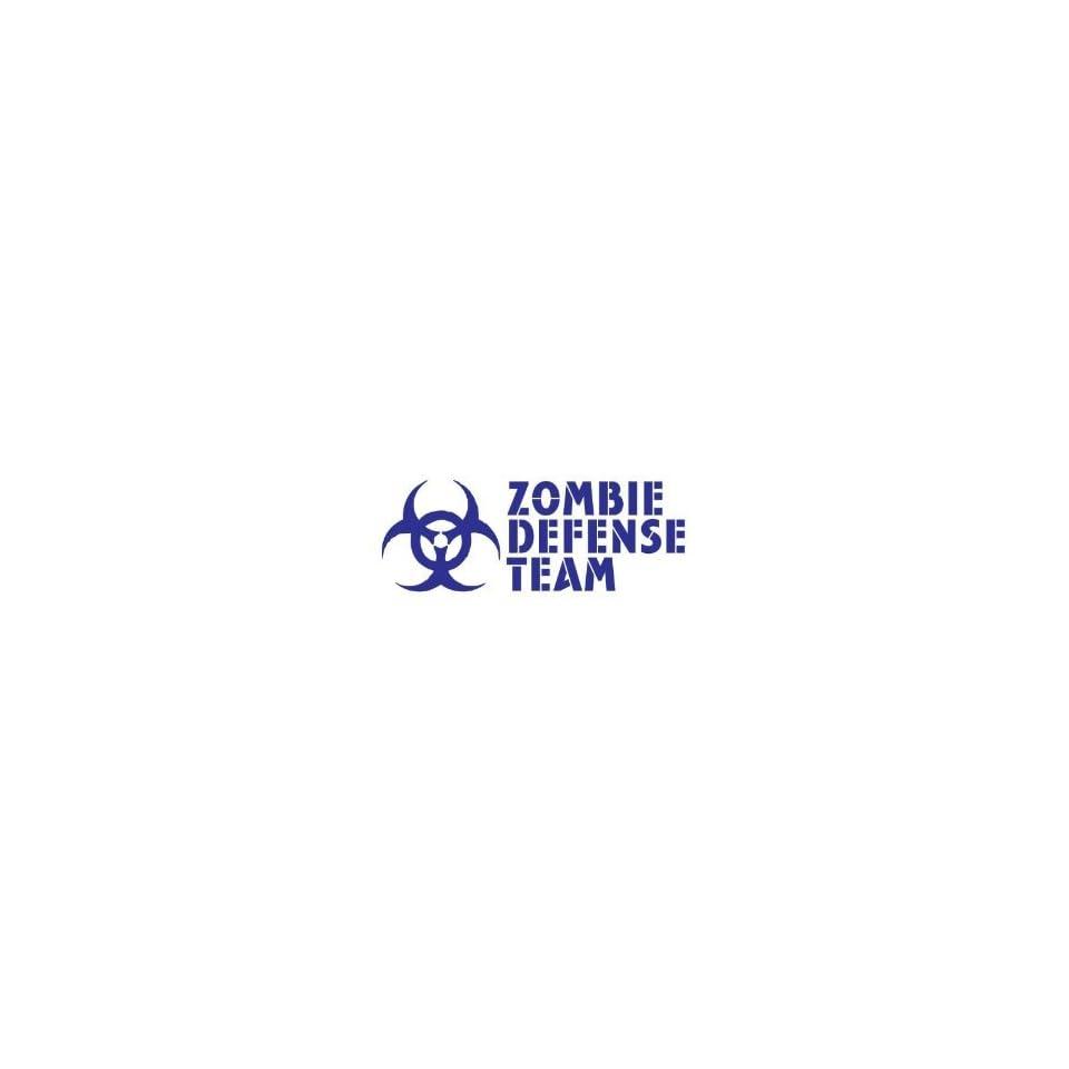 ZOMBIE DEFENSE TEAM   6 BLUE   Vinyl Decal Window Sticker