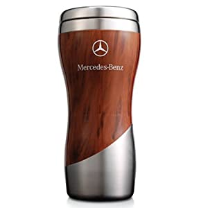 mercedes benz wood grain tumbler coffee mug