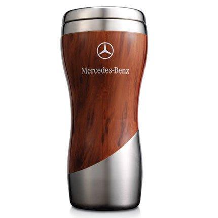 Mercedes Benz Wood Grain Tumbler Coffee Mug