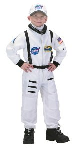 Astronaut Suit White 8-10 Child Costume