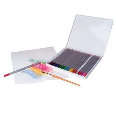 Watercolor Pencils And Storage Box By Alex
