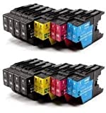 Compatible Ink Cartridges for Brother LC1220, LC1240, LC1280, for Brother MFC-J280W, MFC-J425W, MFC-J430W, MFC-J435W, MFC-J5910DW, MFC-J625DW, MFC-J6510DW, MFC-J6710DW, MFC-J6910DW, MFC-J825DW, MFC-J835DW, DCP-J525W, DCP-J725DW, DCP-J925DW (20 Pack (4 se
