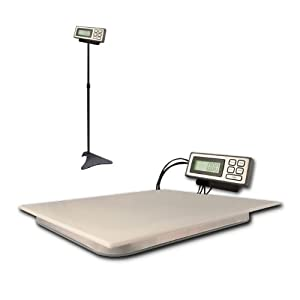 "ZIEIS | 100 Lb. Capacity | Digital Platform Scale w/ remote LCD | Z400 | 19"" X 16"" BigTop EZ Clean Platform 