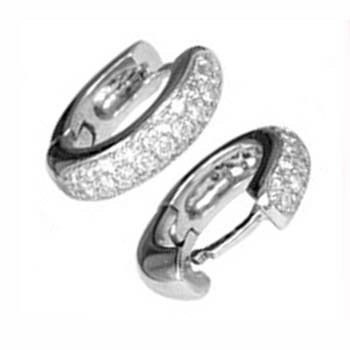 0.60Ct Round Diamond Hoop Earrings 14K Gold