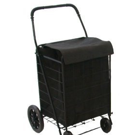 Extra Large heavy-duty folding Grocery Cart with Matching Liner -Basket Cart -Jumbo size by Unique Imports