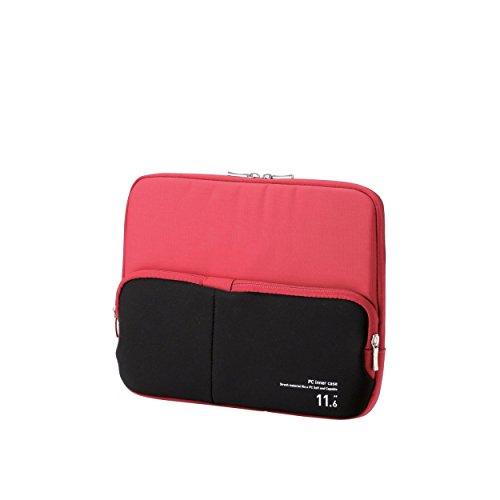 ELECOM PC用インナーバッグ ACアダプタ等小物収納ポケット付 11.6インチ レッド BM-IBPT11RD